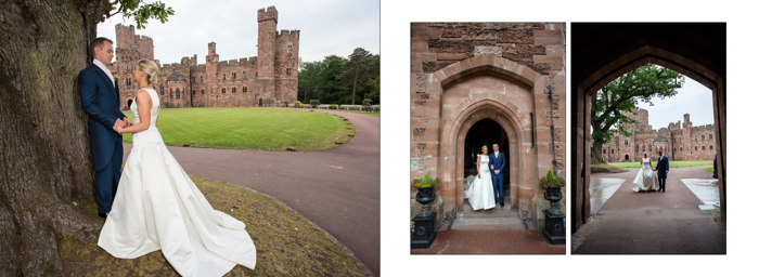 wedding photography cheshire peckforton castle