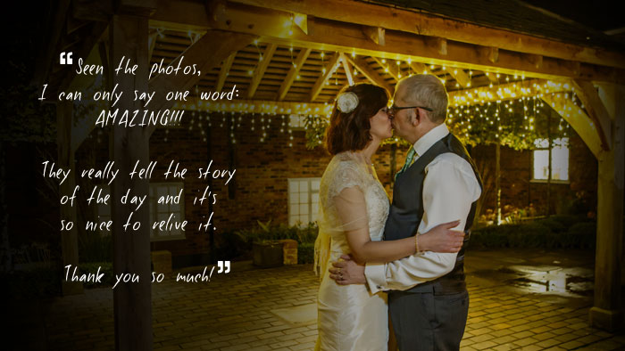 wedding photography testimonial alsager